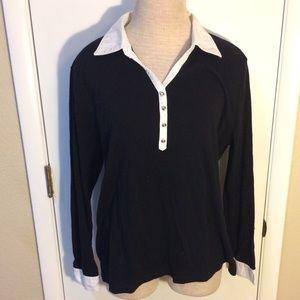 Karen Scott XL black blouse